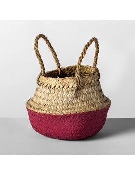 "8.85""X8"" Decorative Pop Up Belly Basket Natural Purple   Opalhouse™ by Shop Collections"