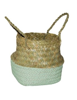 "8.85""X8"" Decorative Pop Up Belly Basket Natural Mint   Opalhouse™ by Shop Collections"