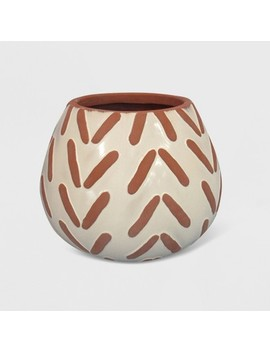"9"" Textured Pattern Planter Terracotta   Opalhouse™ by Shop This Collection"