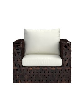 Basket Weave Outdoor Lounge Chair by Williams   Sonoma