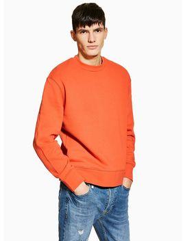 Rust Orange Sweatshirt by Topman