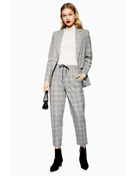 Petite Unlined Check Joggers by Topshop