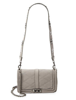 Rebecca Minkoff Beaded Love Leather Crossbody by Rebecca Minkoff