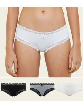 3 Pack Black White And Grey Short Briefs by New Look