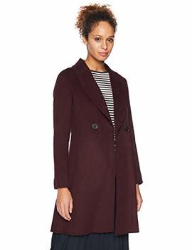 T Tahari Women's Double Face Fitted Wool Coat With Slim Shawl Collar by T Tahari