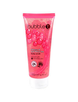 Bubble T Hibiscus And Acai Berry Tea Body Scrub (200ml) by Look Fantastic