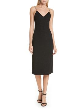 Stila Side Slit Midi Slipdress by Alice + Olivia