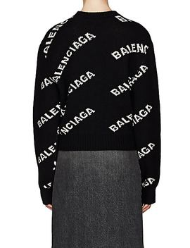 Logo Jacquard Sweater by Balenciaga