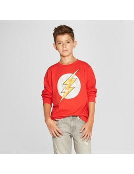 Boys' The Flash Long Sleeve Graphic T Shirt   Red by The Flash
