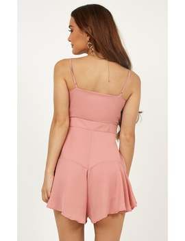Forever Searching Playsuit In Blush by Showpo Fashion