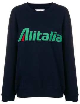 Alitalia Patch Sweater by Alberta Ferretti