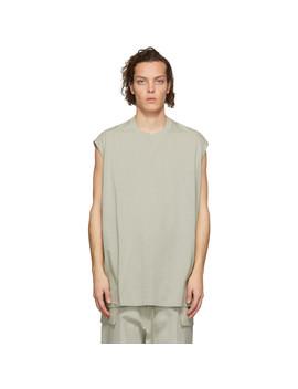 Grey Tarp Sleeveless T Shirt by Rick Owens