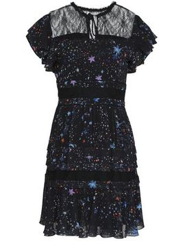 Embellished Lace Trimmed Voile Mini Dress by Zuhair Murad