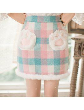 Princess Sweet Lolita Skirts Candy Rain Slim Skirt And Female Japanese Sweet Thin Soft Woolen Skirt Sister Word Skirt C22 Cd7233 by Loliloli Yoyo
