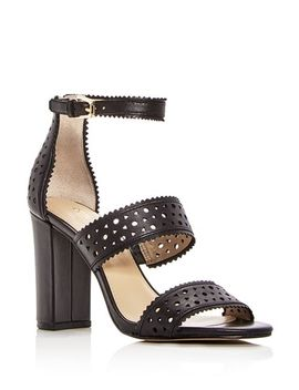 Women's Gemi Perforated Leather Block Heel Sandals by Botkier