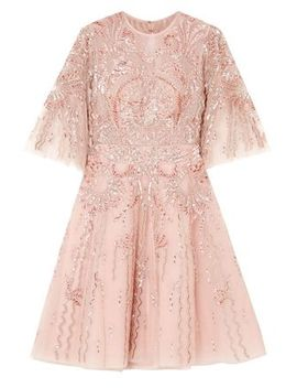 Cutout Embellished Organza Mini Dress by Zuhair Murad
