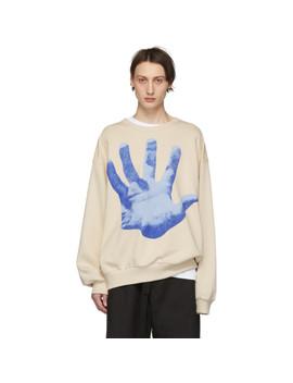 Beige Haston Hand Sweatshirt by Dries Van Noten