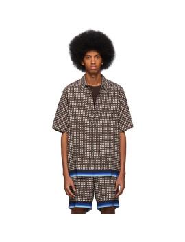 Brown Geometric Classen Shirt by Dries Van Noten