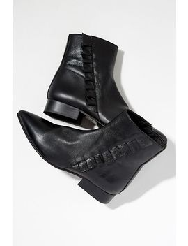 Selected Femme Frilled Leather Ankle Boots by Selected Femme