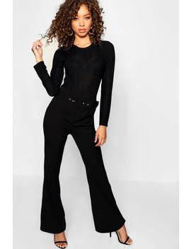 Kick Flare Wide Leg Trouser by Boohoo