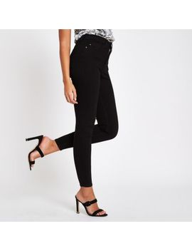 Harper   Zwarte Skinny Jeans Met Hoge Taille by River Island