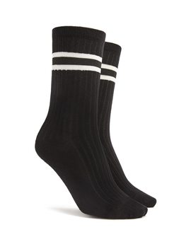 Varsity Striped Crew Socks by Forever 21