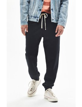 Pac Sun Basic Black French Terry Sweatpants by Pacsun
