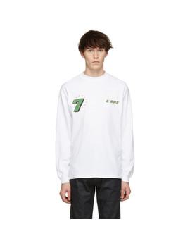 White Gt Graphic Long Sleeve T Shirt by Kar / L'art De L'automobile