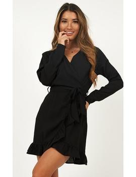Let Me In Dress In Black by Showpo Fashion