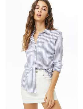 Woven Striped Shirt by Forever 21