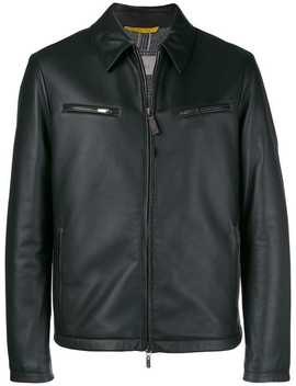 Leather Zipped Up Jacket by Canali