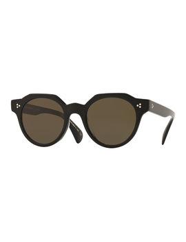 Irven Faceted Round Acetate Sunglasses by Oliver Peoples
