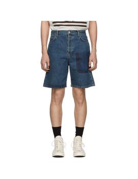 Blue Denim Shaded Pocket Shorts by Jw Anderson