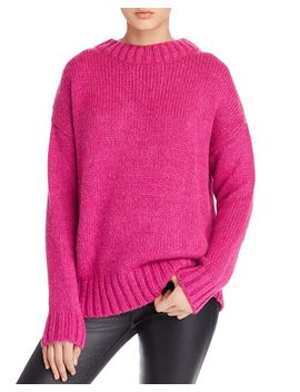 Snuggle Knits Openwork Crewneck Sweater by French Connection