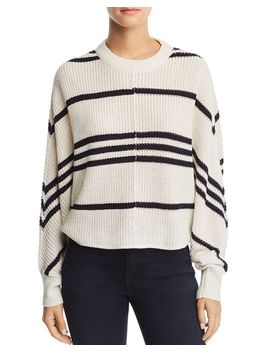 Striped Dolman Sleeve Sweater   100 Percents Exclusive by Aqua