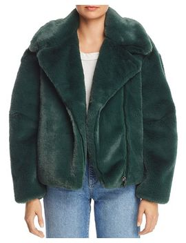 Faux Fur Moto Jacket   100 Percents Exclusive by Heurueh