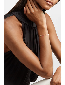 14 Karat Gold Pearl Bracelet by Mizuki