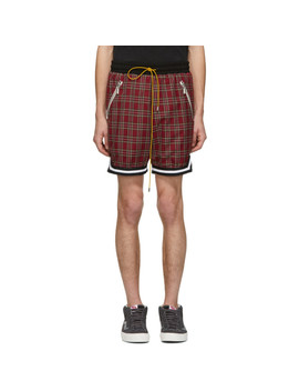 Red Plaid Shorts by Rhude
