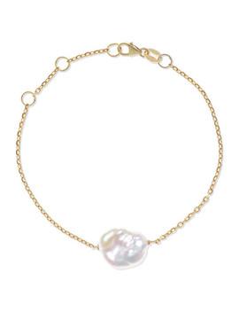 Baroque 9 Karat Gold Pearl Bracelet by Natasha Schweitzer