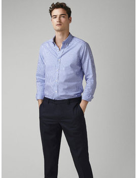 Camisa Oxford Vichy Slim Fit by Massimo Dutti