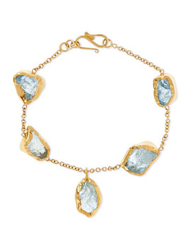 18 Karat Gold Aquamarine Bracelet by Pippa Small