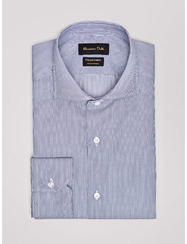 Camisa Twill Risca Fina Tailored Fit Easy Iron by Massimo Dutti