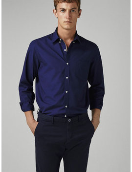 Regular Fit Dyed Shirt by Massimo Dutti