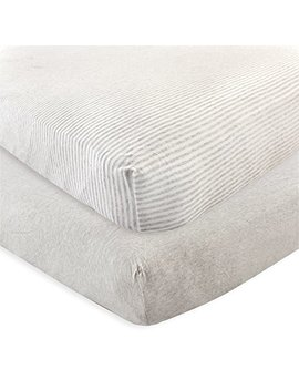 Touched By Nature Organic Fitted Crib Sheets, 2 Pack, Heather Gray, One Size by Touched By Nature