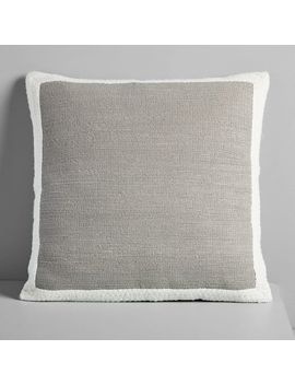 Textured Border Pillow Cover   Platinum by West Elm