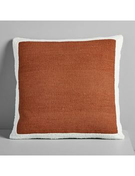 Textured Border Pillow Cover   Copper by West Elm