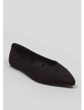 High Vamp Pointed Ballet Shoes by Matalan