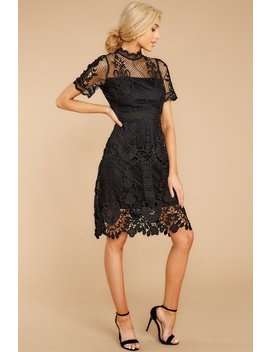 The Story So Far Black Lace Dress by Just Me