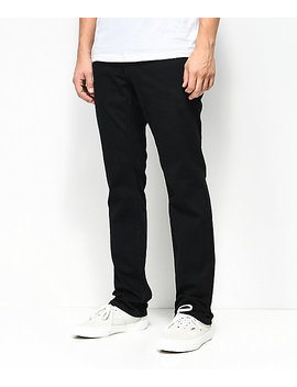 Free World Messenger Pure Black Stretch Skinny Jeans by Free World