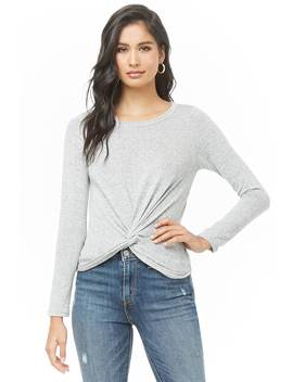 Twisted Marled Top by Forever 21